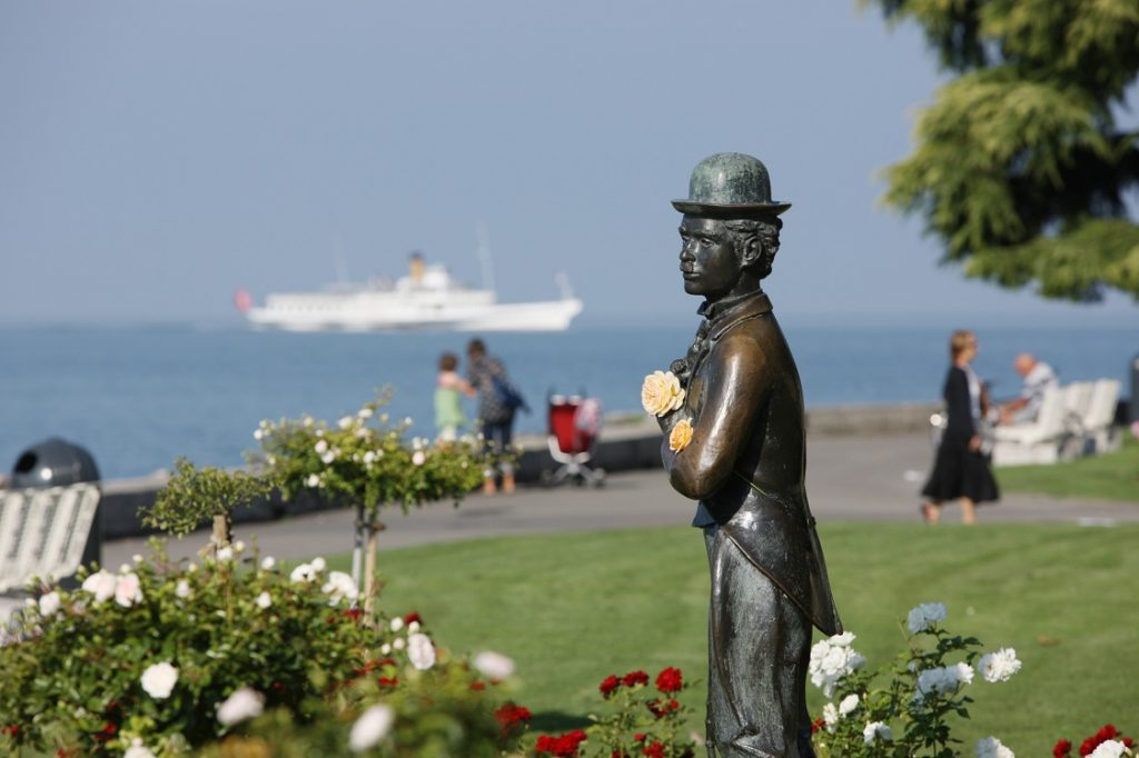 Photo by Christof Sonderegger Charly Chaplin Statue in Vevey VD Photo by Christof Sonderegger