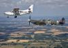 Spitfire plane flight