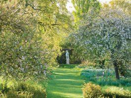 The Orchard in April at Sissinghurst Castle Garden, Kent
